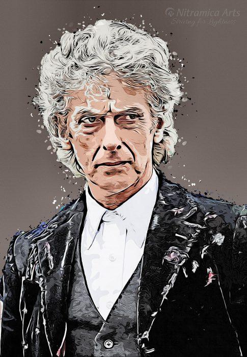 Peter Capaldi als Zwölfter Doktor (Grafik: Martin Dühning)