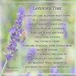 Lavender Time - Visual Poem (Text und Grafik: Martin Dühning)