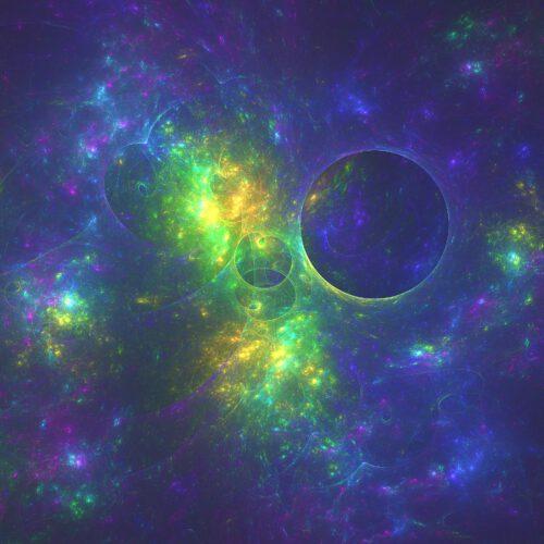 Blue Planet - ein Fraktal, generiert mit Chaotica 1.5.8 (Grafik: Martin Dühning)