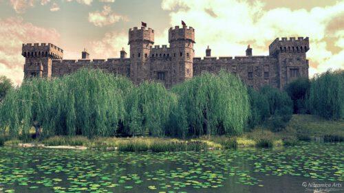 Castleview - gerendert mit DAZ Studio, Postwork mit Xara Designer und Photoshop (Grafik: Martin Dühning)