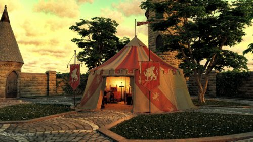 Knight's Pavillon - gerendert mit DAZ Studio (Grafik: Martin Dühning)