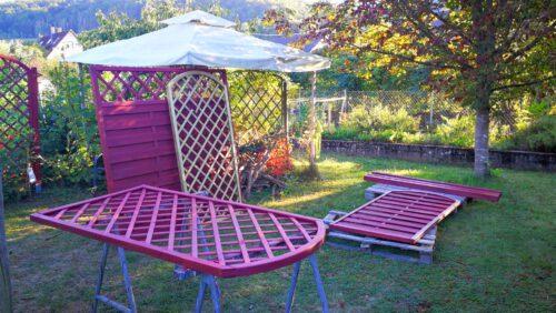 Bauarbeiten im heimischen Garten (Foto: Martin Dühning)