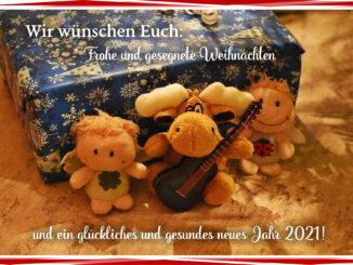 Luisa, Alke und Kara wünschen frohe Weihnachten! (Foto: Martin Dühning)